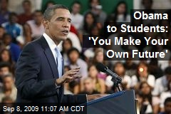 Obama's message to students on the importance of education. Photo Credit: newser.com