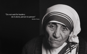 Making a difference over time. Mother Teresa did. Photo Credit: blessingsdivine.com