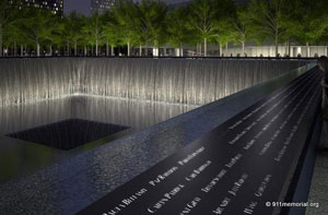 Tenth Anniversary of 911 unveiling the memorial. Photo Credit: 911Memorial.org