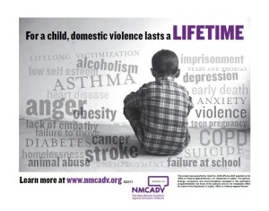 Domestic violence includes children. Photo Credit: nmcadv.org