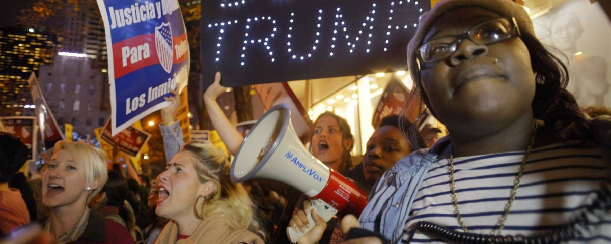 Growing protest against Donald Trump