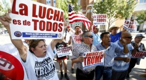 Growing protest against Trump by more Hispanics